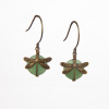 Aventurine Dragonfly Wrapped Earrings