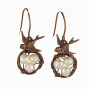 White Bird Nest Earrings - Short