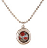 Secret Garden Silver Necklace - Poppy Bouquet