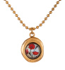Secret Garden Gold Necklace - Poppy Bouquet