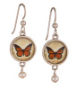 Secret Garden Silver Earrings - Butterfly