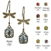 Bejeweled Dragonfly Earrings (Choose your color)
