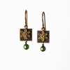 Itty Bitty Flower Earrings- Green