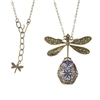 Lavender Bejeweled Dragonfly Necklace